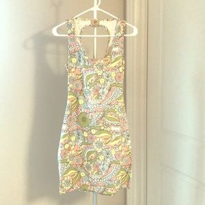 NWOT dress with beautiful back!